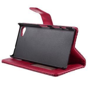 Croco peněženkové pouzdro na Sony Xperia Z5 Compact - červené - 4