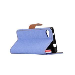 Cloth Peňaženkové puzdro pre mobil Sony Xperia Z5 Compact - svetlomodré - 4