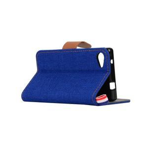 Cloth peněženkové pouzdro na mobil Sony Xperia Z5 Compact - tmavěmodré - 4