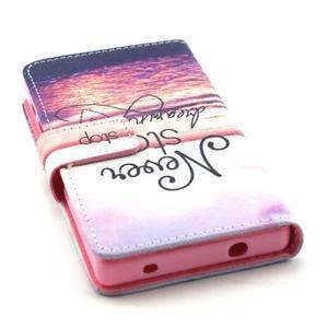 Peňaženkové puzdro pre mobil Sony Xperia Z5 Compact - neprestávaj snívať - 4