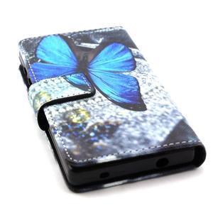 Peněženkové pouzdro na mobil Sony Xperia Z5 Compact - modý motýl - 4