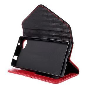 Stylové peněženkové pouzdro na Sony Xperia Z5 Compact - červené - 4