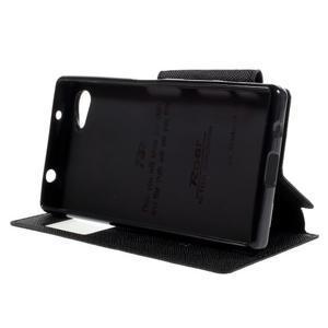 Puzdro s okienkom na Sony Xperia Z5 Compact - čierne - 4