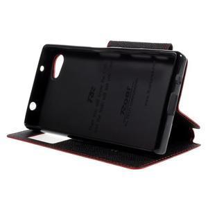Puzdro s okýnkem na Sony Xperia Z5 Compact - červené - 4
