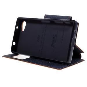 Puzdro s okienkom na Sony Xperia Z5 Compact - oranžové - 4