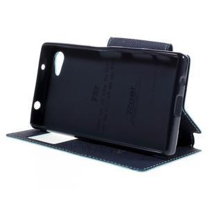 Puzdro s okienkom na Sony Xperia Z5 Compact - svetlomodré - 4