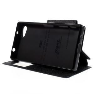 Puzdro s okýnkem na Sony Xperia Z5 Compact - tmavěmodré - 4