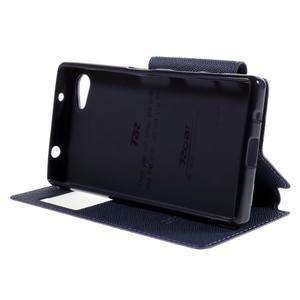 Puzdro s okienkom na Sony Xperia Z5 Compact - fialové - 4