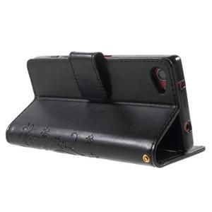 Butterfly Peňaženkové puzdro pre Sony Xperia Z5 Compact - čierne - 4