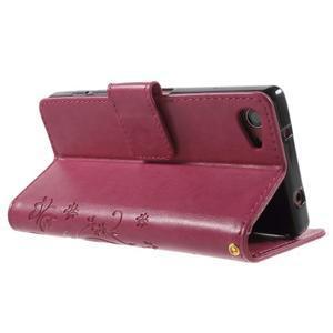 Butterfly peněženkové pouzdro na Sony Xperia Z5 Compact - rose - 4