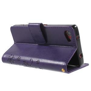 Butterfly peněženkové pouzdro na Sony Xperia Z5 Compact - fialové - 4