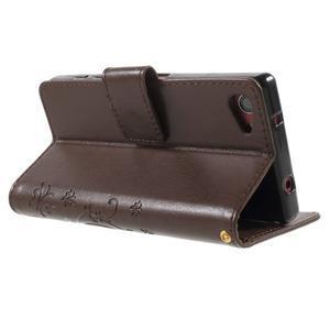 Butterfly Peňaženkové puzdro pre Sony Xperia Z5 Compact - coffee - 4