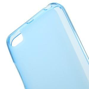 Matný gélový obal pre mobil Xiaomi Mi5 - modrý - 4