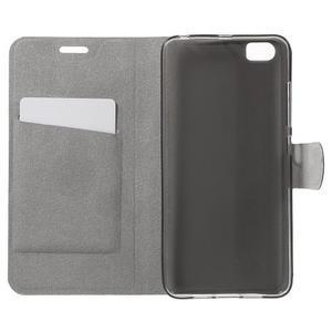 Horse peněženkové pouzdro na mobil Xiaomi Mi5 - hnědé - 4
