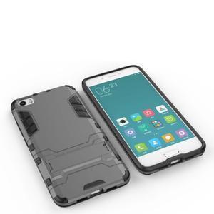 Hybridní odolný kryt pre mobil Xiaomi Mi5 - sivý - 4