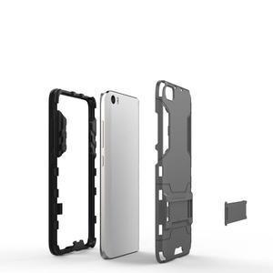 Hybridní odolný kryt pre mobil Xiaomi Mi5 - sivomodrý - 4