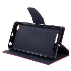 Diary PU kožené puzdro pre mobil Xiaomi Redmi 3 - rose - 4