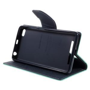 Diary PU kožené pouzdro na mobil Xiaomi Redmi 3 - azurové - 4