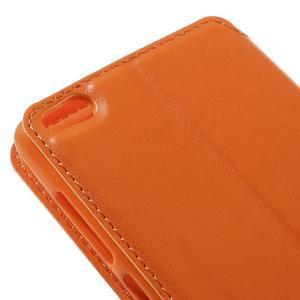 Luxy PU kožené puzdro s okienkom na Xiaomi Redmi 3 - oranžové - 4