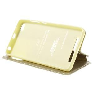 Luxy PU kožené puzdro s okienkom na Xiaomi Redmi 3 - zlaté - 4