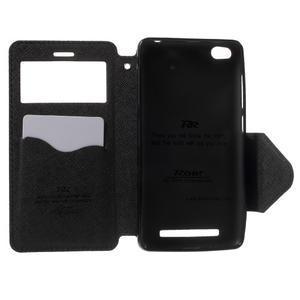 Diary view peňaženkové puzdro pre Xiaomi Redmi 3 - čierne - 4