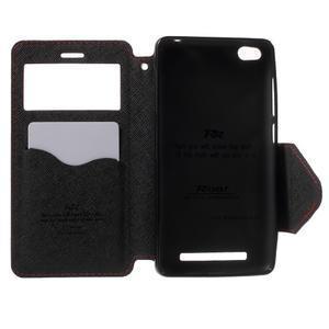 Diary view peňaženkové puzdro pre Xiaomi Redmi 3 - červené - 4