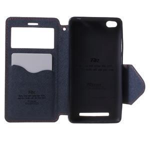 Diary view peňaženkové puzdro pre Xiaomi Redmi 3 - oranžové - 4
