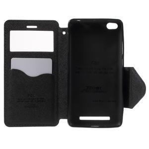 Diary view peňaženkové puzdro pre Xiaomi Redmi 3 - tmavomodré - 4