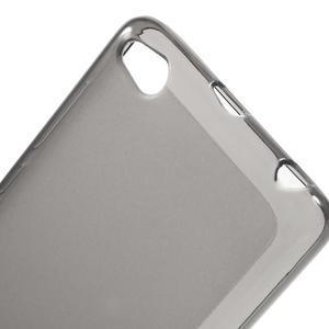 Matné gelové puzdro pre mobil Xiaomi Redmi 3 - sivé - 4
