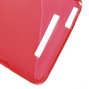 S-line gélový obal pre mobil Xiaomi Redmi Note 2 - červený - 4