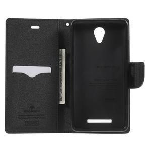 Goos PU kožené puzdro pre Xiaomi Redmi Note 2 - čierne - 4