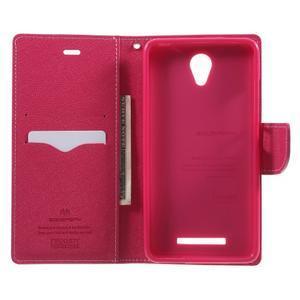 Goos PU kožené pouzdro na Xiaomi Redmi Note 2 - růžové - 4
