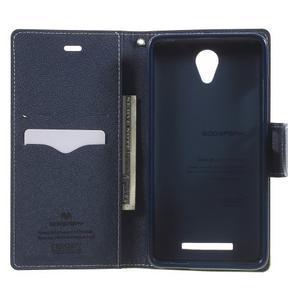 Goos PU kožené puzdro pre Xiaomi Redmi Note 2 - zelené - 4