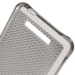 Diamonds gélový obal pre Xiaomi Redmi Note 2 - sivý - 4