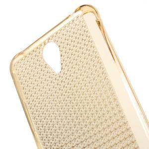 Diamonds gélový obal pre Xiaomi Redmi Note 2 - zlatý - 4