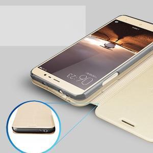 Vintage PU kožené pouzdro na mobil Xiaomi Redmi Note 3 - zlaté - 4