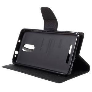 Wallet PU kožené pouzdra na Xiaomi Redmi Note 3 - černé - 4