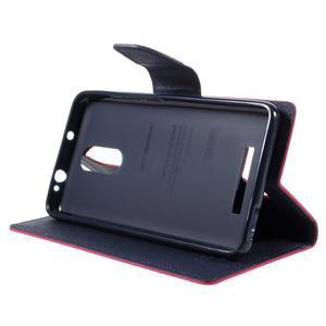 Wallet PU kožené pouzdra na Xiaomi Redmi Note 3 - rose - 4