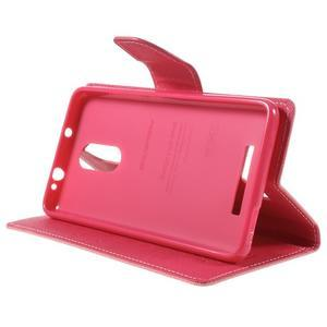 Wallet PU kožené pouzdra na Xiaomi Redmi Note 3 - růžové - 4