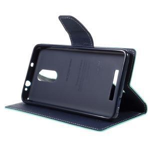 Wallet PU kožené puzdra na Xiaomi Redmi Note 3 - azurové - 4