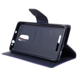 Wallet PU kožené pouzdra na Xiaomi Redmi Note 3 - fialové - 4