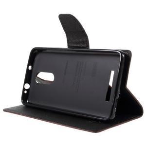 Wallet PU kožené pouzdra na Xiaomi Redmi Note 3 - hnědé - 4