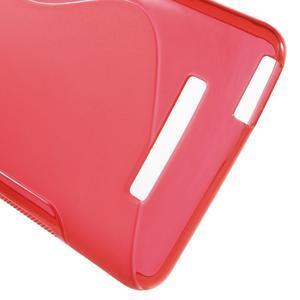 S-line gélový obal pre Xiaomi Redmi Note 3 - červený - 4