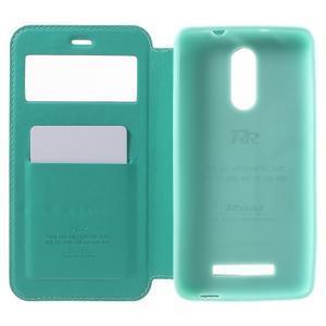 PU kožené puzdro s okienkom na Xiaomi Redmi Note 3 - azurové - 4