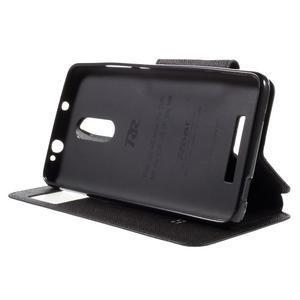 Diary pouzdro s okýnkem na mobil Xiaomi Redmi Note 3  - černé - 4