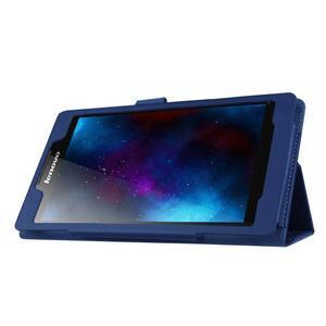 Dvojpolohové puzdro pre tablet Lenovo Tab 2 A7-20 - tmavomodré - 4