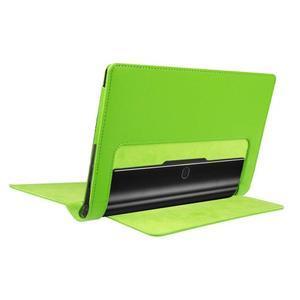 Safe PU kožené puzdro pre tablet Lenovo Yoga Tab 3 8.0 - zelené - 4