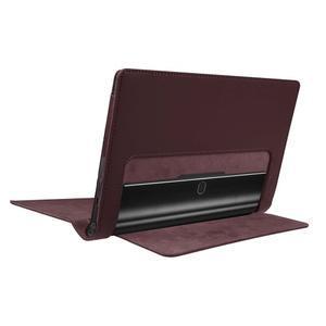 Safe PU kožené pouzdro na tablet Lenovo Yoga Tab 3 8.0 - hnědé - 4