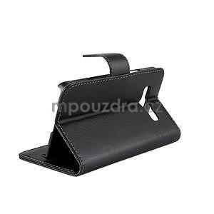 Kožené puzdro pre Samsung Galaxy A3    - čierné - 4