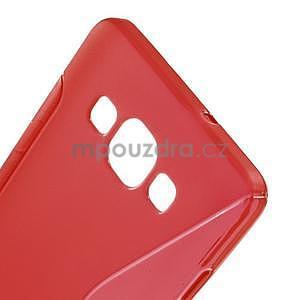 Gélové s-line puzdro na Samsung Galaxy A3 - červená - 4